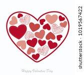 love heart card style for...   Shutterstock .eps vector #1019567422