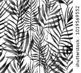 tropical leaves  jungle pattern.... | Shutterstock . vector #1019569552
