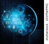earth from space. best internet ... | Shutterstock . vector #1019569942