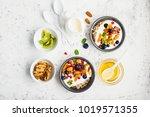 breakfast  rice porridge or... | Shutterstock . vector #1019571355
