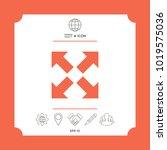 extend  resize icon. cross... | Shutterstock .eps vector #1019575036