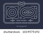 nautical rope knots and frames... | Shutterstock .eps vector #1019575192