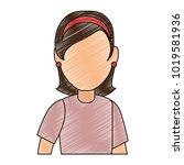 beautiful woman avatar character   Shutterstock .eps vector #1019581936