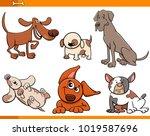 cartoon illustration of funny... | Shutterstock .eps vector #1019587696