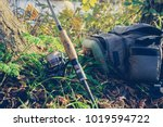 fishing tackle   fishing... | Shutterstock . vector #1019594722