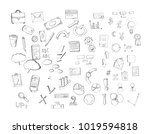 hand drawn finance and business ... | Shutterstock . vector #1019594818