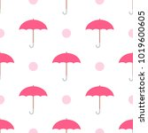 Vector Seamless Pink Umbrella...