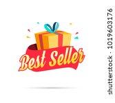 best seller shopping gift box | Shutterstock .eps vector #1019603176