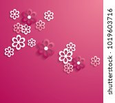 pink background with a pattern... | Shutterstock .eps vector #1019603716