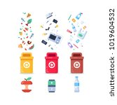 plastic containers for... | Shutterstock .eps vector #1019604532