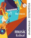 jazz festival live music retro... | Shutterstock .eps vector #1019605516