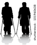 graphic disabled man with... | Shutterstock . vector #101960638