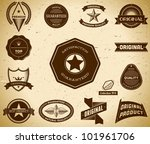 set of vintage premium quality... | Shutterstock .eps vector #101961706