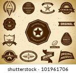 set of vintage premium quality... | Shutterstock .eps vector #101961706