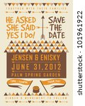 Save The Date Letterpress Card