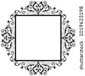 vector vintage border frame... | Shutterstock .eps vector #1019623198