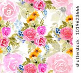 beautiful bright floral... | Shutterstock . vector #1019623666