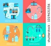water cleaning flat design... | Shutterstock .eps vector #1019631556