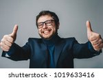 close up portrait of happy... | Shutterstock . vector #1019633416