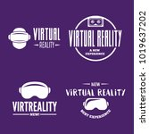 isolated vr headset logotype... | Shutterstock .eps vector #1019637202