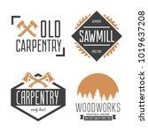 set of vintage carpentry ...   Shutterstock .eps vector #1019637208