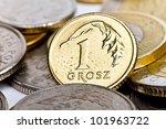 One Polish Grosz Coin