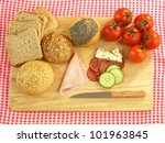 cutting board with food for... | Shutterstock . vector #101963845