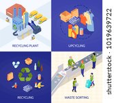 garbage recycling isometric...   Shutterstock .eps vector #1019639722