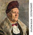 oil painting  portrait | Shutterstock . vector #1019643685