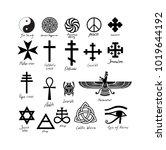 almost twenty vector signs.... | Shutterstock .eps vector #1019644192