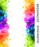 banner with colorful watercolor ... | Shutterstock .eps vector #1019644348