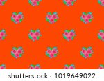 seamless pattern of abstrat... | Shutterstock . vector #1019649022