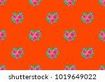 seamless pattern of abstrat... | Shutterstock . vector #1019649022