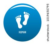 human step icon vector blue... | Shutterstock .eps vector #1019650795