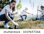 eco protection. nice young... | Shutterstock . vector #1019657266