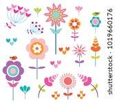 summer flowers for posting | Shutterstock .eps vector #1019660176