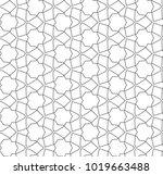 seamless geometric ornamental... | Shutterstock .eps vector #1019663488