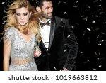 sexy elegant couple. beautiful...   Shutterstock . vector #1019663812