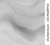 abstract wave. gray stripes.... | Shutterstock .eps vector #1019668942