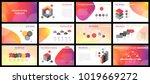 business presentation templates.... | Shutterstock .eps vector #1019669272