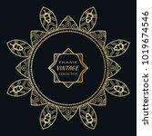 golden frame template with... | Shutterstock .eps vector #1019674546
