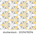 graphic flower arabesque... | Shutterstock .eps vector #1019678296