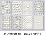 set of flyers  posters  banners ...   Shutterstock .eps vector #1019678446