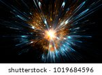 high energy particles explosion.... | Shutterstock . vector #1019684596