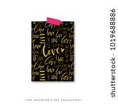 love pattern. valentines day... | Shutterstock .eps vector #1019688886