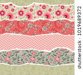 seamless pattern with elements... | Shutterstock .eps vector #1019689372