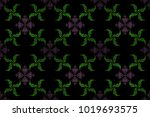 oriental abstract raster... | Shutterstock . vector #1019693575
