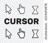 pixel cursors icons mouse hand... | Shutterstock . vector #1019693878