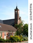 Small photo of Netherlands,Groningen,Delfzijl,Spijk,july 2016:Calvinistical church