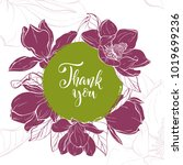 floral background. hand drawn... | Shutterstock .eps vector #1019699236
